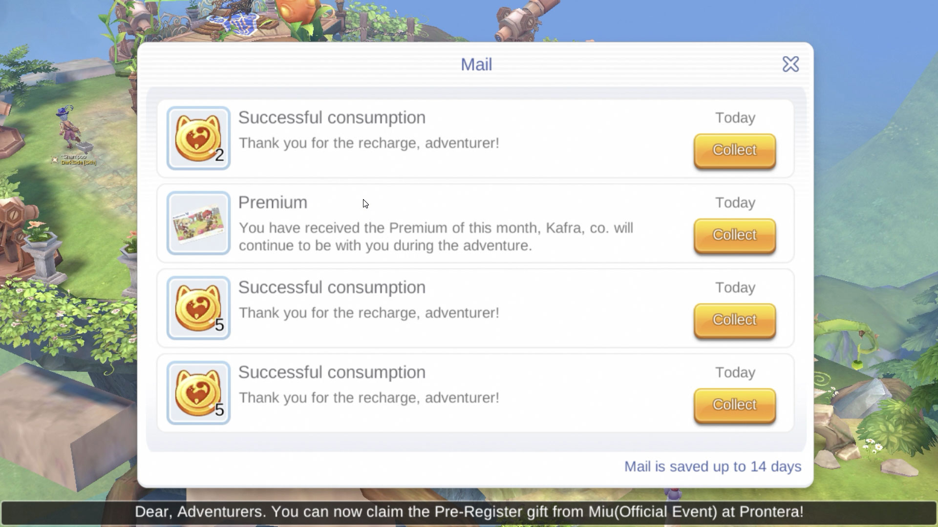 How to Purchase / Recharge a Premium in Ragnarok M Eternal