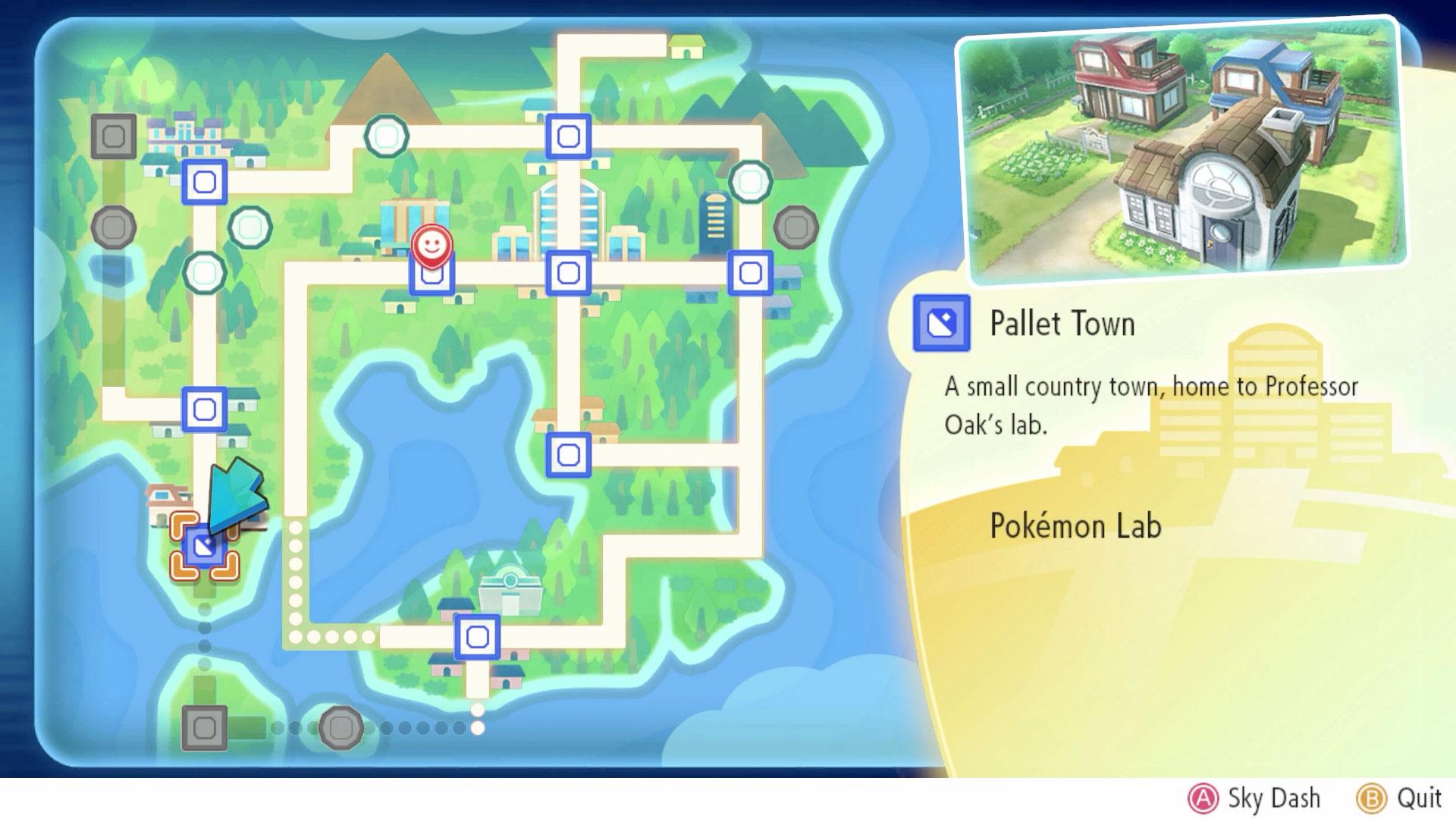 Pallet Town Fast Travel Pokemon Lets Go Pikachu Eevee Gamingph Com