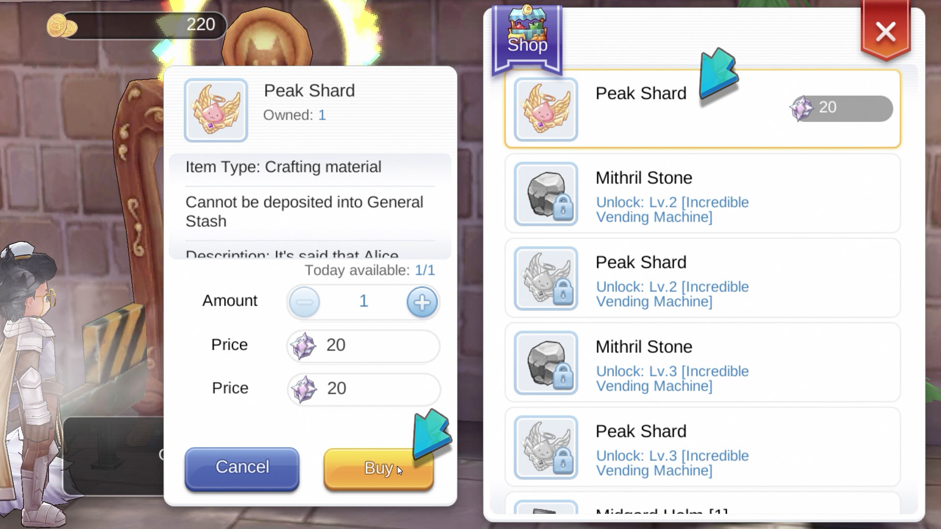 Where to Buy Peak Shard in Ragnarok M Eternal Love