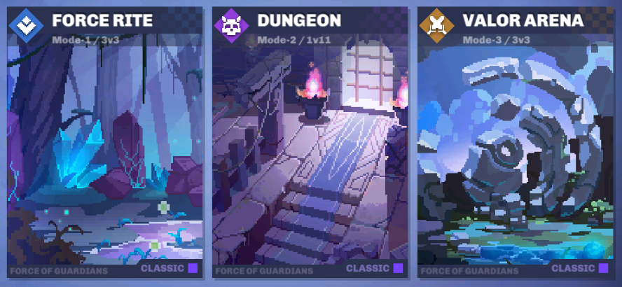 Force of Guardian modes moba pixel art game